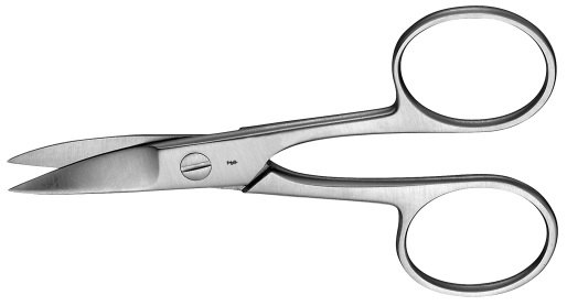 AE-HF019R, NAIL SCISSORS, CURVED, 90 mm, 3 1/2""
