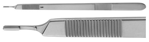 AE-BB177R, BARRÉ 	SCALPEL HANDLE NO. 3, for left hand, 250 mm, 10""