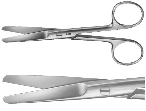 AE-BC313R, SURGICAL SCISSORS STRAIGHT, BLUNT / BLUNT, 130 mm, 5 1/8""