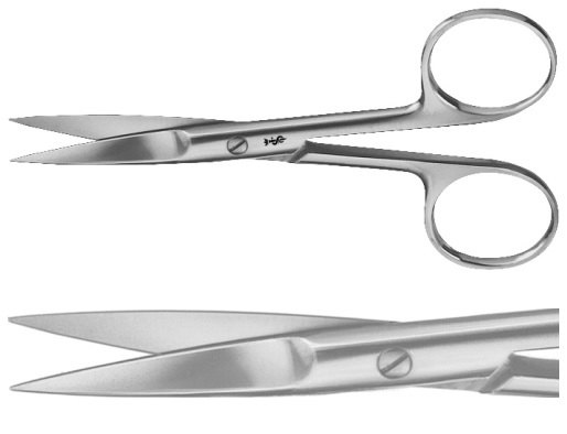 AE-BC341R, SURGICAL SCISSORS 	STRAIGHT , SHARP / SHARP 	115 mm, 4 1/2""