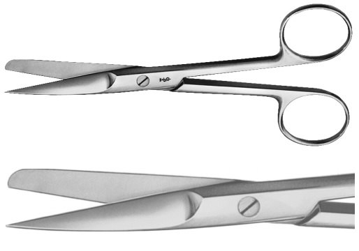 AE-BC374R, DEAVER, SURGICAL SCISSORS 	STRAIGHT, SHARP / BLUNT, WITH FLAT LOCK 	145 mm, 5 3/4""