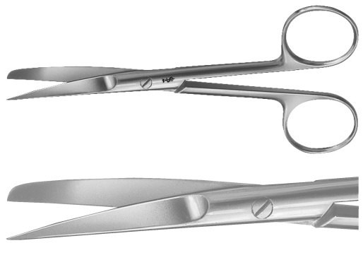 AE-BC404R, SURGICAL SCISSORS 	CURVED, SHARP / BLUNT, SLENDER PATTERN 	145 mm, 5 3/4""