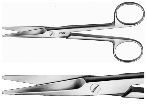 AE-BC554R, MAYO, DISSECTING SCISSORS, CURVED, 140 mm, 5 1/2""