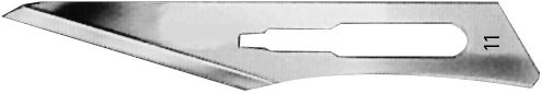 AE-16600509, CUTFIX SCALPEL BLADES 	FIG. 11, STAINLESS STEEL, PAK = PACKAGE OF 100 PIECES IN DISPENSER PACKAGE
