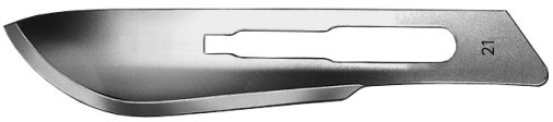 AE-16600568, CUTFIX SCALPEL BLADES 	FIG. 21, STAINLESS, PAK = PACKAGE OF 100 PIECES IN DISPENSER PACKAGE