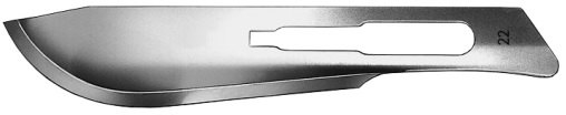 AE-16600576, CUTFIX SCALPEL BLADES 	FIG. 22, STAINLESS, PAK = PACKAGE OF 100 PIECES IN DISPENSER PACKAGE