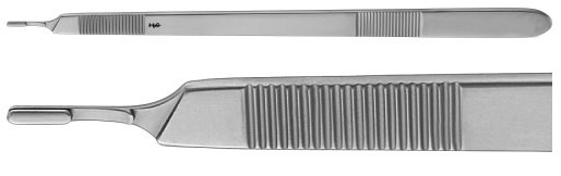 AE-BB177R, BARRÉ 	SCALPEL HANDLE NO. 3 	for left hand, 250 mm, 10""