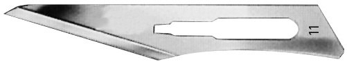 AE-BB511, SCALPEL BLADES 	FIG. 11, CARBON STEEL, PAK = PACKAGE OF 100 PIECES IN DISPENSER PACKAGE