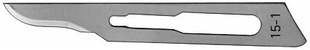 AE-BB515-1, SCALPEL BLADES 	FIG. 15-1, CARBON STEEL, PAK = PACKAGE OF 100 PIECES IN DISPENSER PACKAGE