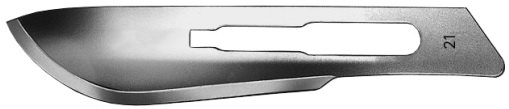 AE-BB521, SCALPEL BLADES 	FIG. 21, CARBON STEEL, PAK = PACKAGE OF 100 PIECES IN DISPENSER PACKAGE