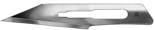 AE-BB525, SCALPEL BLADES 	FIG. 25, CARBON STEEL, PAK = PACKAGE OF 100 PIECES IN DISPENSWER PACKAGE