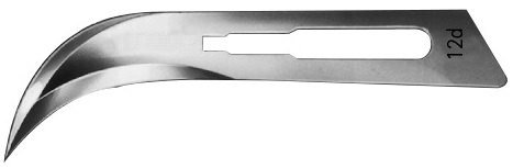AE-BB542, SCALPEL BLADES, DOUBLE CUTTING 	FIG. 42, CARBON STEEL, PAK = PACKAGE OF 100 PIECES IN DISPENSER PACKAGE