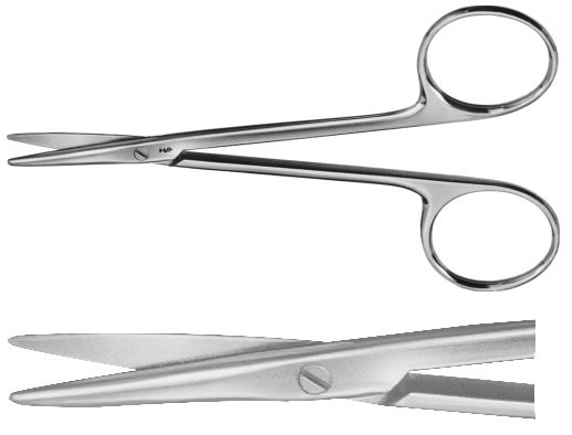 AE-BC164R, DISSECTING SCISSORS 	AND STRABISMUS SCISSORS ,STRAIGHT 	115 mm, 4 1/2""