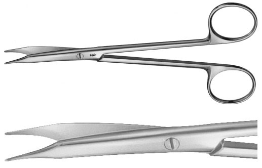 AE-BC180R, REYNOLDS 	DISSECTING SCISSORS 	CURVED 	145 mm, 5 3/4""