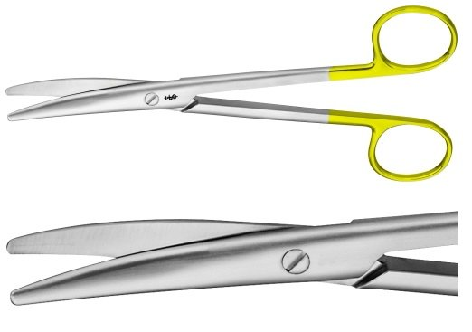 AE-BC243R, MAYO 	DUROTIP DISSECTING SCISSORS 	CURVED 	170 mm, 6 3/4""