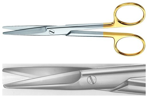 AE-BC250R, MAYO 	DUROTIP DISSECTING SCISSORS 	STRAIGHT 	140 mm, 5 1/2""