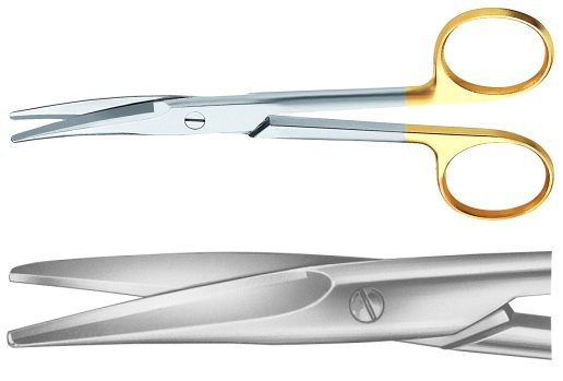 AE-BC251R, MAYO DUROTIP DISSECTING SCISSORS CURVED 	140 mm, 5 1/2""