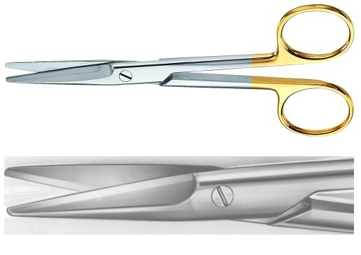 AE-BC252R, MAYO 	DUROTIP DISSECTING SCISSORS 	STRAIGHT 	170 mm, 6 3/4""