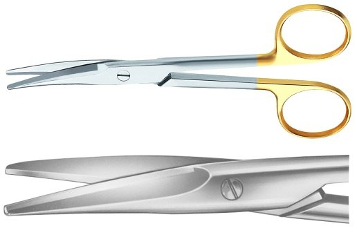 AE-BC253R, MAYO 	DUROTIP DISSECTING SCISSORS 	CURVED 	170 mm, 6 3/4""