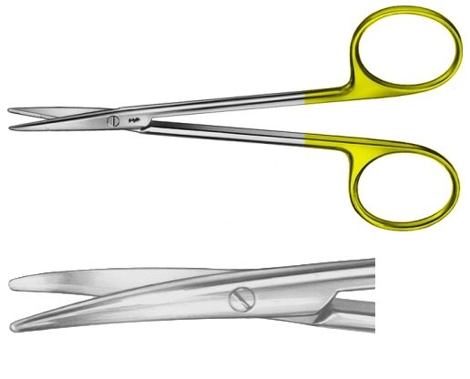 AE-BC257R, DUROTIP DISSECTING SCISSORS 	CURVED 	115 mm, 4 1/2""