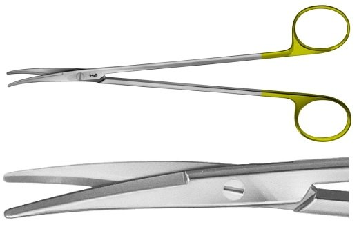 AE-BC271R, METZENBAUM 	DUROTIP DISSECTING SCISSORS 	CURVED 	180 mm, 7""