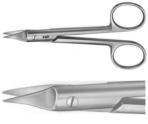 AE-BC521R, SYSTRUNK, NAIL SPLITTING SCISSORS FOR INGROWN TOENAILS,  130 mm, 5 1/8""