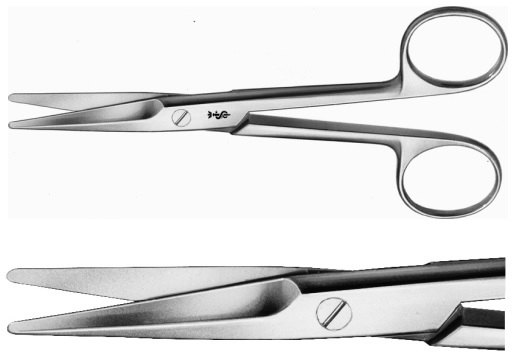AE-BC554R, MAYO 	DISSECTING SCISSORS 	CURVED 	140 mm, 5 1/2""