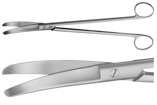 AE-BC621R, LLOYD-DAVIES (GOLIGHER'S) 	RECTAL SCISSORS 	CURVED 	270 mm, 10 3/4""