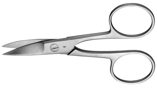 AE-HF020R, NAIL SCISSORS 	CURVED 	100 mm, 4""