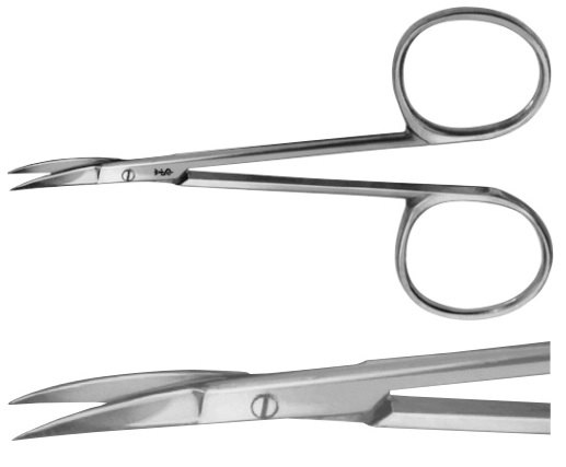 AE-HF409R, NAIL SCISSORS ESPECIALLY DELICATE PATTERN 90 mm, 3 1/2""