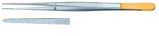 AE-BD201R, THUMB 	DIA DUST FORCEPS 	FLAT HANDLE 	210 mm, 8 1/4""