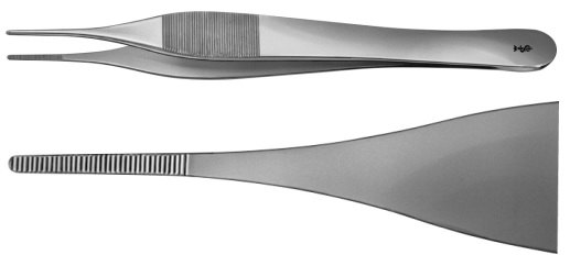 AE-BD226R, JEFFERSON 	DISSECTING FORCEPS 	 	180 mm, 7""