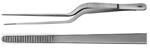 AE-BD870R, ADSON 	DISSECTING FORCEPS 	BAYONET SHAPED 	175 mm, 7""