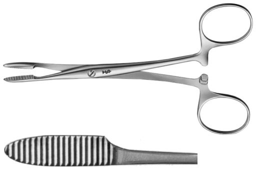 AE-BH312R, PEAN 	ARTERY FORCEPS 	STRAIGHT 	125 mm, 5""
