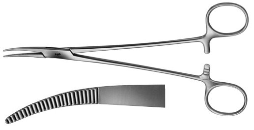AE-BH957R, SCHNIDT 	TONSIL FORCEPS 	CURVED 	185 mm, 7 1/4""