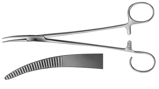 AE-BH961R, SCHNIDT 	TONSIL FORCEPS 	CURVED 	185 mm, 7 1/4""