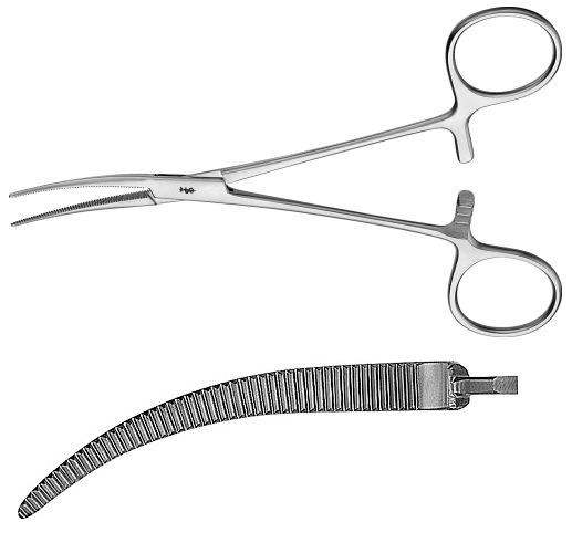AE-MD465R, COLLER 	ARTERY FORCEPS 	CURVED 	140 mm, 5 1/2""