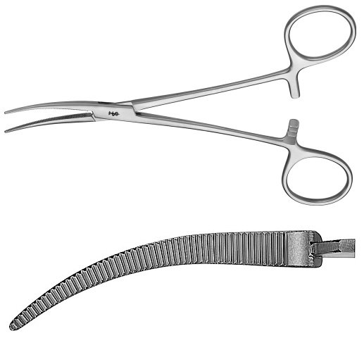 AE-MD467R, COLLER 	ARTERY FORCEPS 	CURVED 	165 mm, 6 1/2""