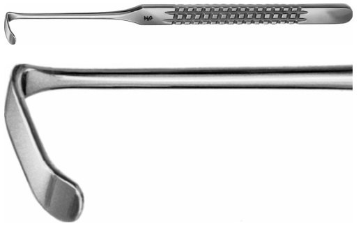 AE-BT178R, LANGENBECK- GREEN RETRACTOR 6X24 MM 160 mm, 6 1/4, 24 x 6 mm