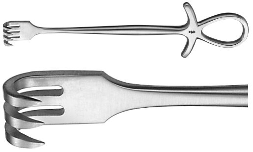 AE-BT293R, MURPHY RETRACTOR SHARP, 3 PRONGS 195 mm, 7 3/4""