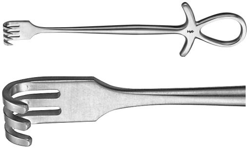 AE-BT295R, MURPHY RETRACTOR BLUNT, 3 PRONGS 195 mm, 7 3/4""