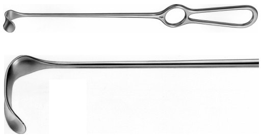 AE-BT492R, KOCHER- WAGNER RETRACTOR 36X20MM 280 mm, 11""