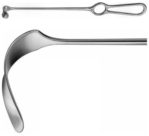 AE-BT498R, KOCHER- WAGNER RETRACTOR 94X36MM 280 mm, 11""