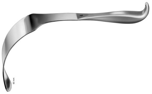AE-BT732R, LERICHE INTESTINAL SPATULA 60 X 275MM 275 mm, 10 3/4