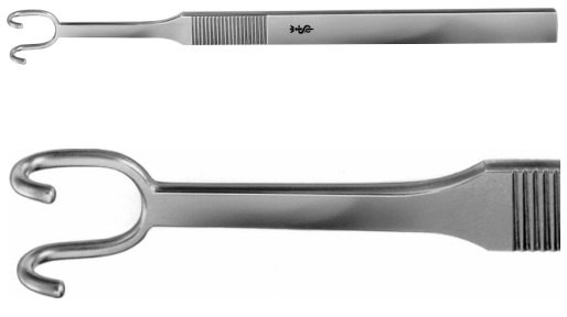 AE-OL202R, FOMON ALAR RETRACTOR BLUNT / BLUNT 145 mm, 5 3/4""