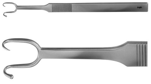 AE-OL203R, COTTLE NASAL RETRACTOR BLUNT / SHARP 145 mm, 5 3/4