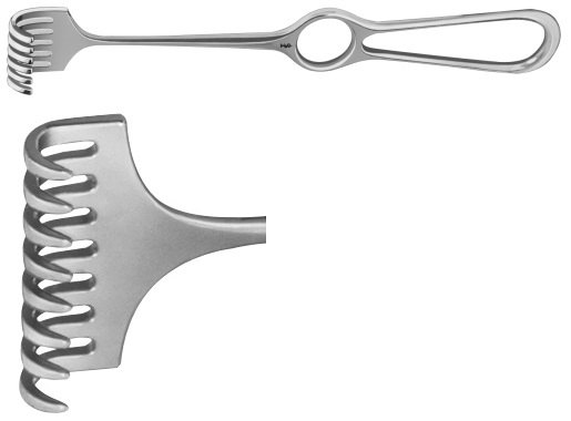AE-BT265R, VOLKMANN RETRACTOR 8-PRONGS,SEMI SHARP, 8,5X40MM 220 mm, 8 3/4""