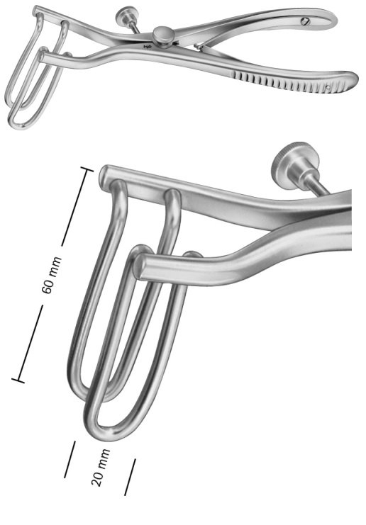 AE-EA825R, SIMS, RECTAL SPECULA FOR CHILDREN, 60 x 20 MM 190 mm, 7 1/2""