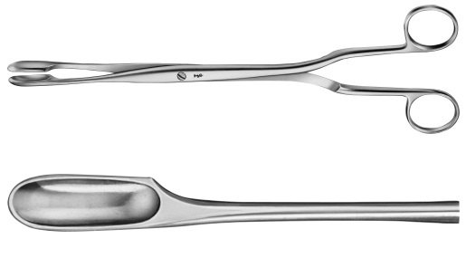 AE-ET302R, WINTER, PLACENTA AND OVUM FORCEPS FIGURE 2, STRAIGHT 290 mm, 11 1/2""