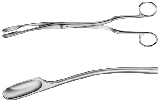 AE-ET306R, WINTER, PLACENTA AND OVUM FORCEPS FIGURE 1, CURVED 290 mm, 11 1/2""